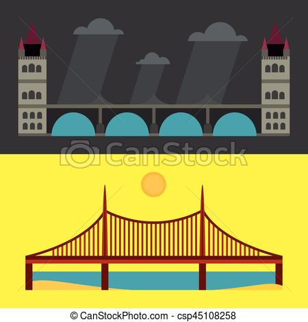 Urban clipart building design Flat city Clipart Vector and