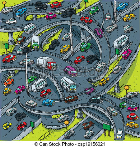 Roadway clipart road map A Highway Illustration Highway cartoon