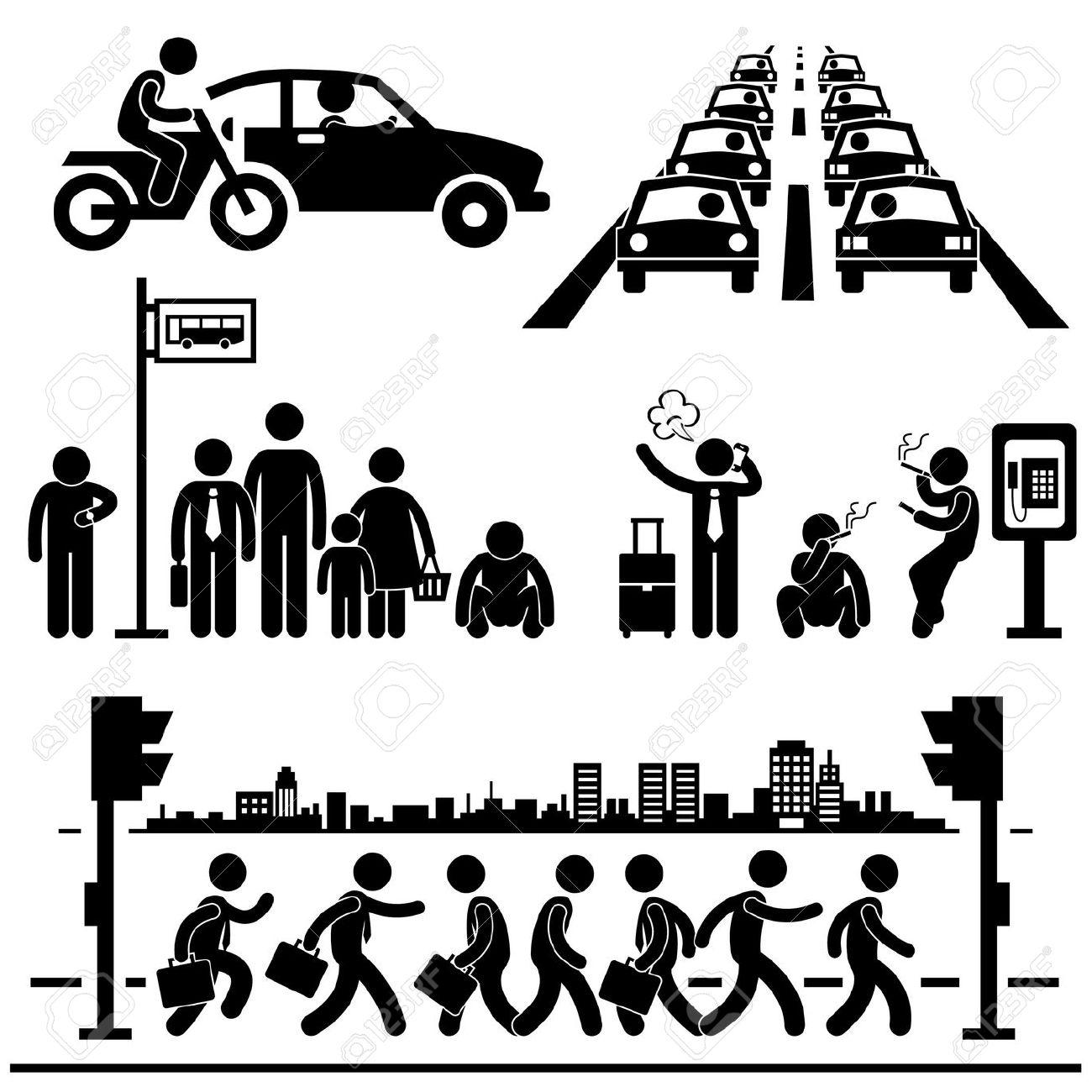 Traffic clipart busy street Royalty Free City Traffic Rush