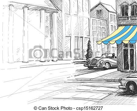 Street architecture urban csp15162727 Retro
