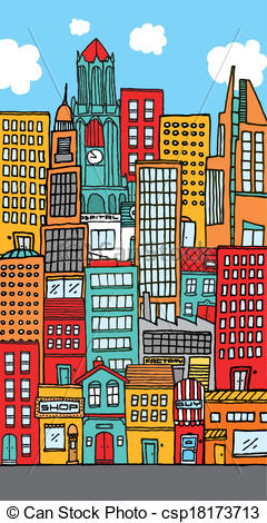 City clipart crowded Downtown Crowded city Crowded of