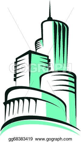 Architecture clipart modern architecture Abstract Abstract modern architecture urban