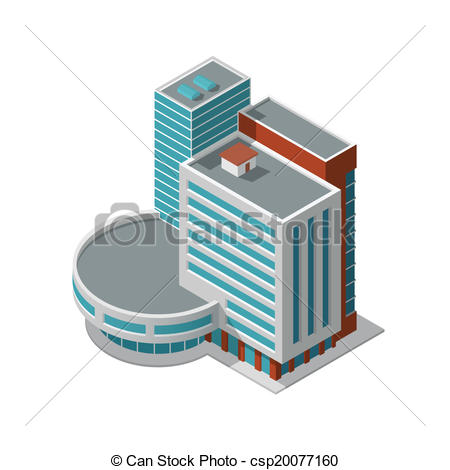 Urban clipart office building Vector Business  isometric Art