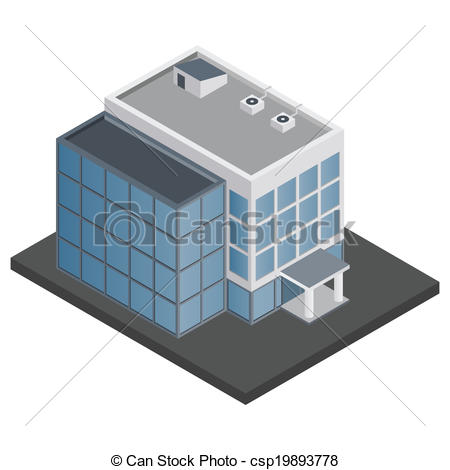 Urban clipart office building Of  Business Illustration building