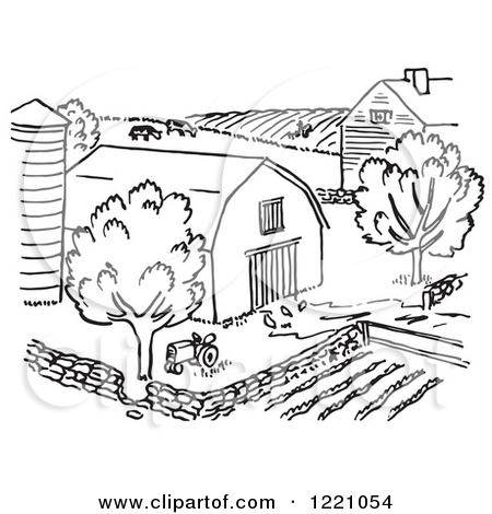 Rural clipart ranch Rural Black White cliparts Clipart