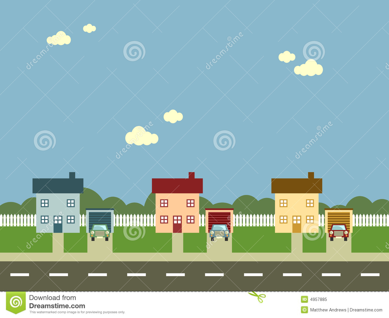 Community clipart housing community Neighborhood Clip Free City Clipart
