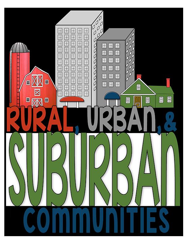 Geography clipart school community Rural Urban &  Suburban