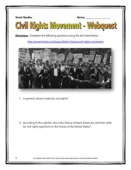 Us History clipart civil rights movement Webquest Civil Civil This Rights