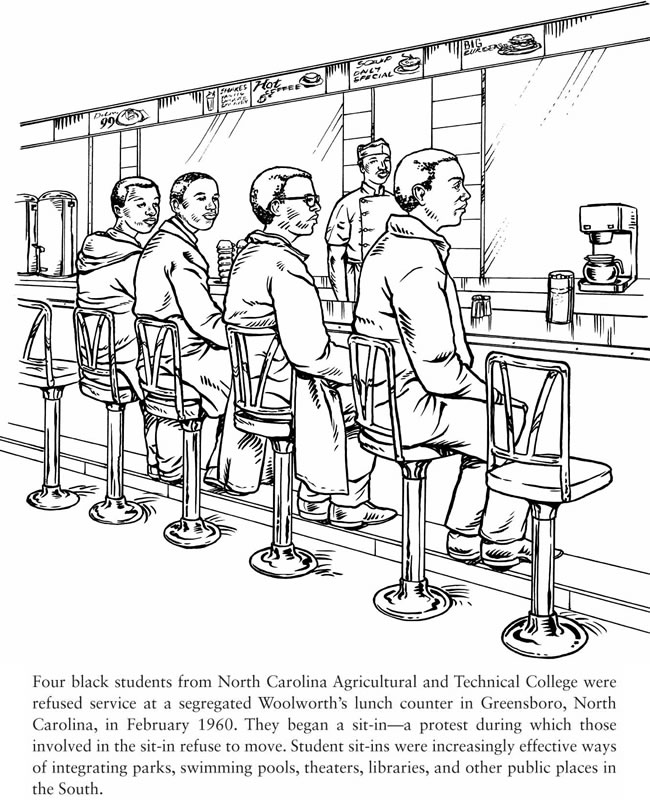Us History clipart civil rights movement Civil History Book of Coloring