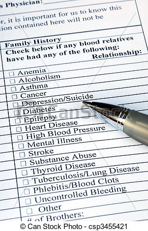 Us History clipart medical history Filling Stock the questionnaire Photography