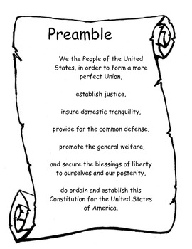 Us History clipart preamble – Constitution United United Download
