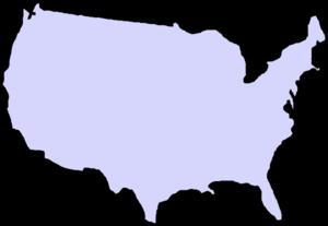 USA clipart Art Clip com Map Clip