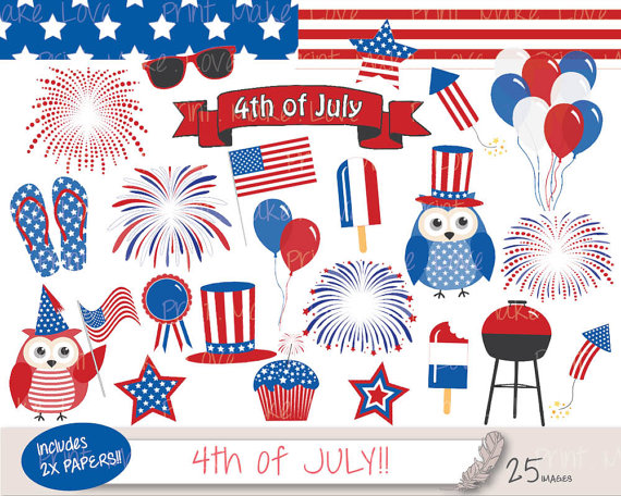 Barbecue clipart 4th july Fourth  Day 4th of