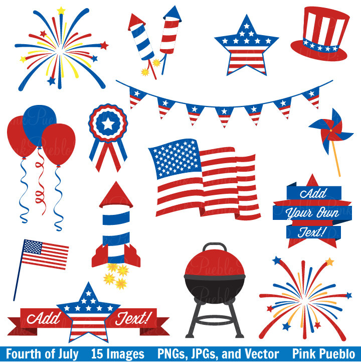 Birthday clipart 4th july Of Clipart Vectors July July