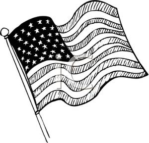 American Flag clipart black and white White free collection flag white