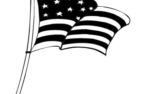 USA clipart black and white Flag Flag And ClipArt Clipart