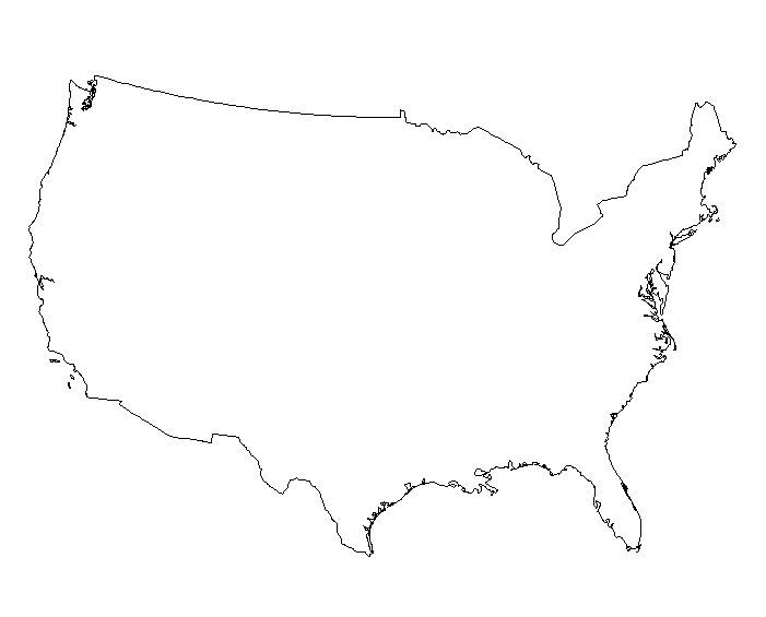 USA clipart black and white White Usa clipart map states