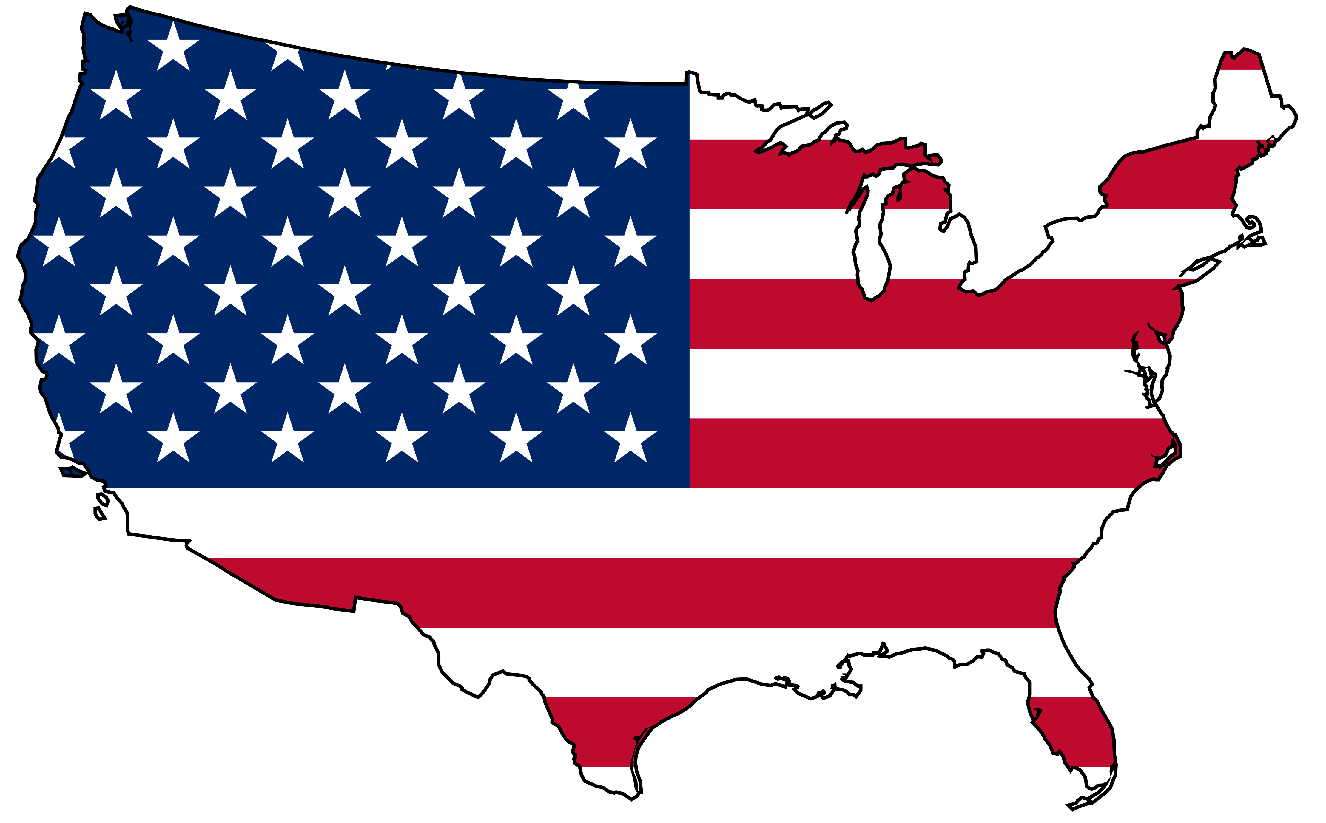 USA clipart word United America Present Images States