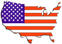 America clipart cartoon Map Graphics with Free USA