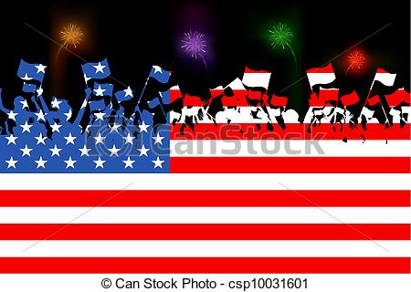 USA clipart citizenship People united Clipart waving of