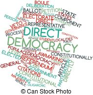 USA clipart direct democracy Democracy word Stock for Direct