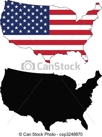 USA clipart icon vector Clipart united and  Vector