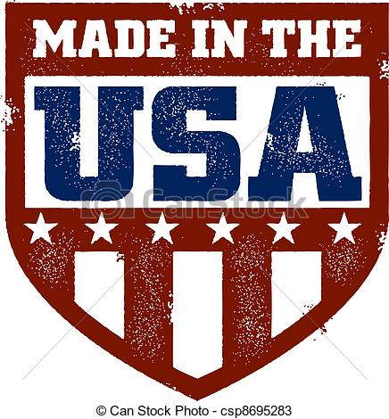 USA clipart icon vector Stamp in the distressed USA