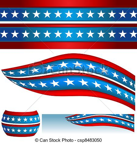 American Flag clipart banner A Patriotic csp8483050 USA Banners