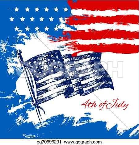 American Flag clipart shield With  Stock hand gg70696231