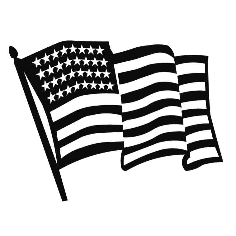 American Flag clipart black and white For American flag clipart and