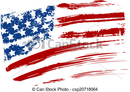 American Flag clipart simple Grunge of flag USA Clip