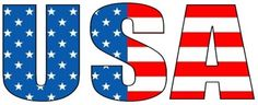 USA clipart word Free clip usa Clipart (76+)