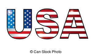 USA clipart word And icons; usa of architecture