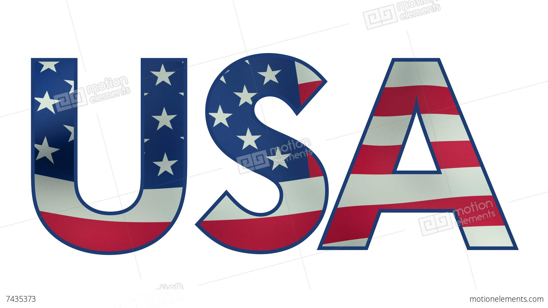 USA clipart word The with Video Stock word