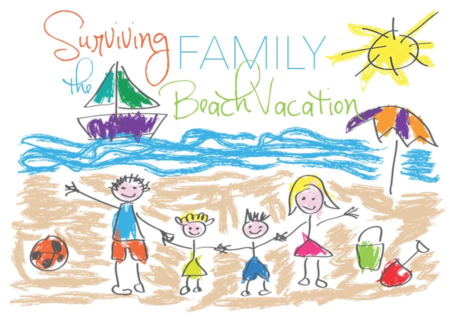 Beach clipart family beach vacation Family the Surviving Vacation Beach