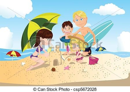 Vacation clipart beach person Beach a Beach of A