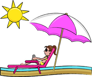 Vacation clipart beach person Clipart Vintage 300x252 collection The