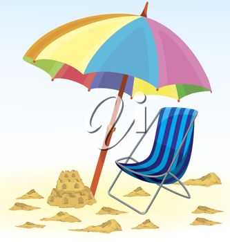 Vacation clipart beach umbrella Beach Beach Chair Castle best