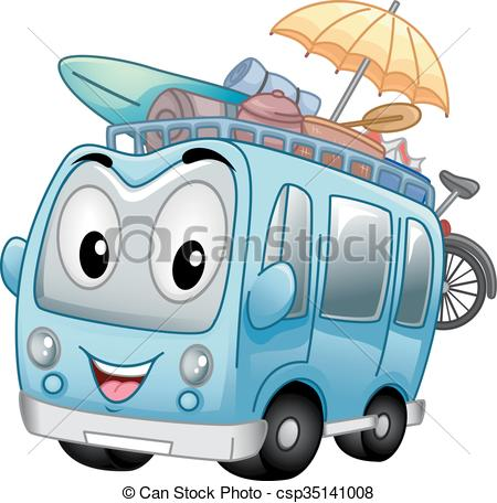 Vacation clipart bus Bus Vector Clipart of Tour
