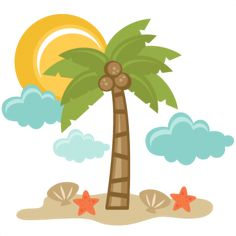Vacation clipart cute beach Clip Digital Clipart Clipart Product
