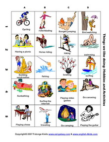 Vacation clipart free time activity Holiday Fun ESL  worksheet