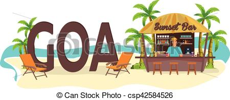 Vacation clipart goa Drink Goa Illustration Palm India