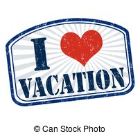 Vacation clipart i love Vacation rubber grunge  and