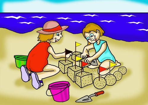 Vacation clipart kid beach Kids Beach Vacation The Story