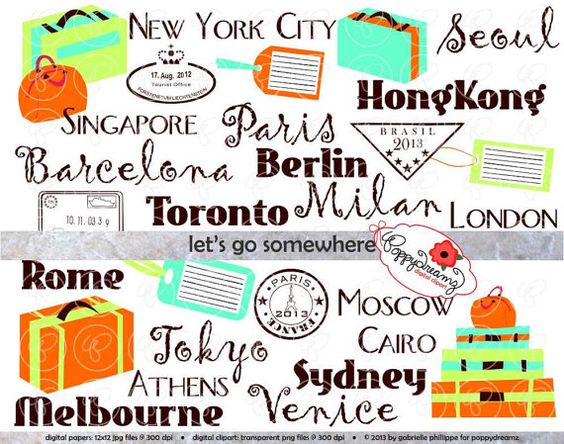 Vacation clipart let's go Materials stamps room Teaching poppydreamz