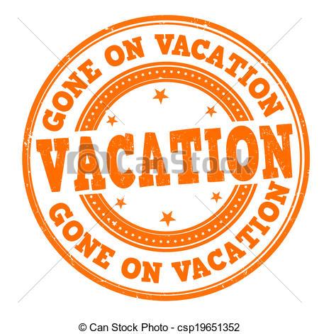 Vacation clipart logo Clipart vacation vacation on stamp