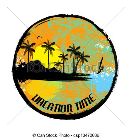 Vacation clipart logo Vacation Vacation of time time