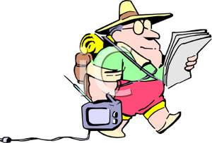 Vacation clipart man on Of Cartoon vacation collection Colorful