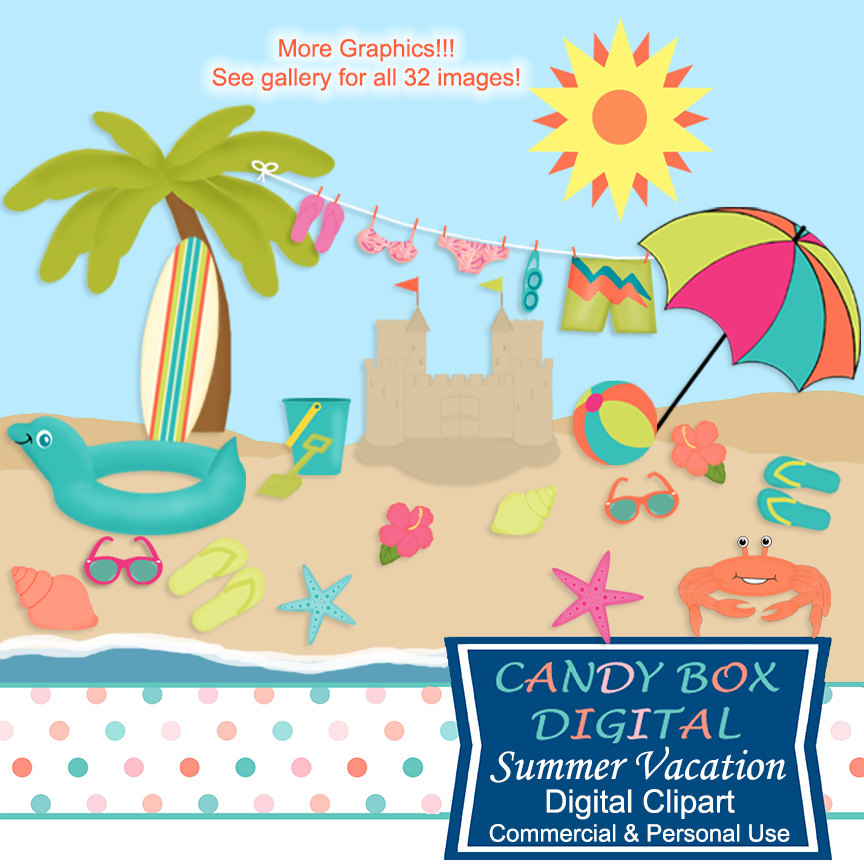 Vacation clipart next Beach OK Commercial Use Clipart