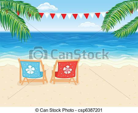 Vacation clipart paradise Beach beach  Vector Vacation
